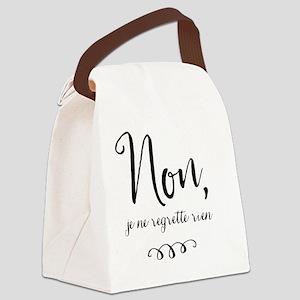 Non, Je Ne Regrette Rien Canvas Lunch Bag