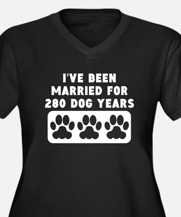 40th Anniversary Dog Years Plus Size T-Shirt