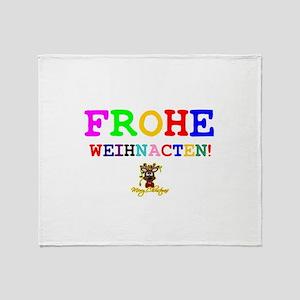 CHRISTMAS - FROHE WEIHNACHTN! - HAPP Throw Blanket
