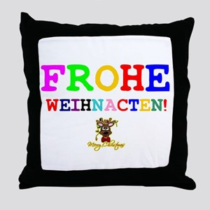 CHRISTMAS - FROHE WEIHNACHTN! - HAPPY Throw Pillow