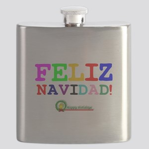 CHRISTMAS - FELIZ NAVIDED - HAPPY HOLIDAYS! Flask