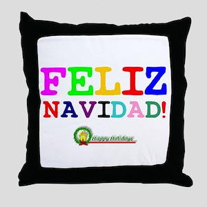 CHRISTMAS - FELIZ NAVIDED - HAPPY HOL Throw Pillow
