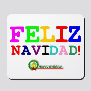 CHRISTMAS - FELIZ NAVIDED - HAPPY HOLIDA Mousepad