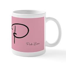 Cute Pink Monogram Mug