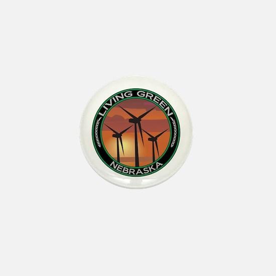 Living Green Nebraska Wind Power Mini Button
