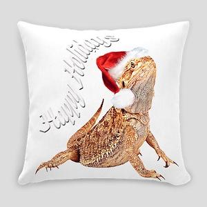 3-Santa dragon (black) Everyday Pillow