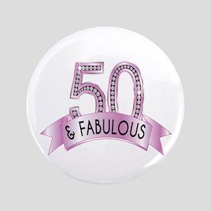 50 & Fabulous Diamonds Button