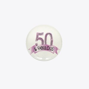 50 & Fabulous Diamonds Mini Button