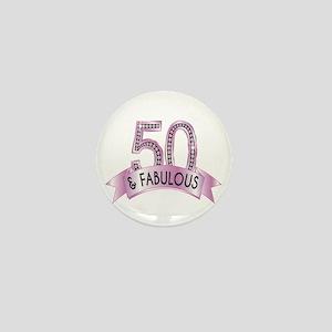 50 & Fabulous Diamonds Mini Button