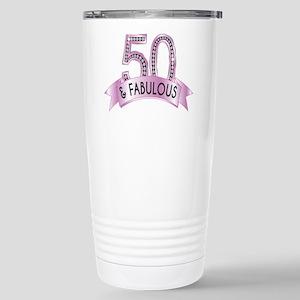50 & Fabulous Diamonds Travel Mug