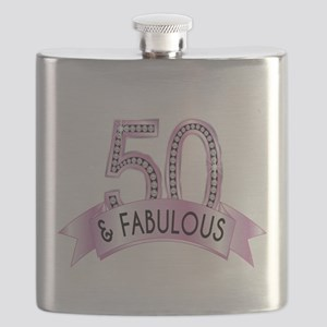 50 & Fabulous Diamonds Flask