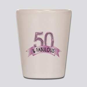 50 & Fabulous Diamonds Shot Glass