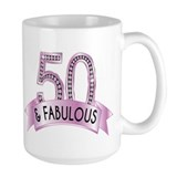 50th birthday Large Mugs (15 oz)
