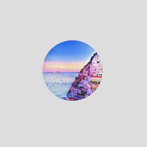 Digital Painting Of Positano Italy Sunset Mini But