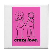 Crazy Love (p) Tile Coaster