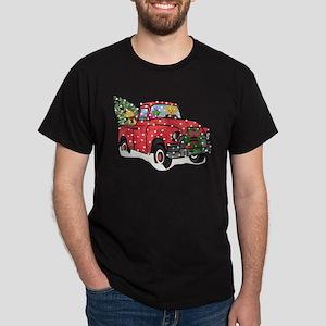 Golden Retrievers Xmas Red Truc T-Shirt