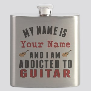 Addicted To Guitar Flask