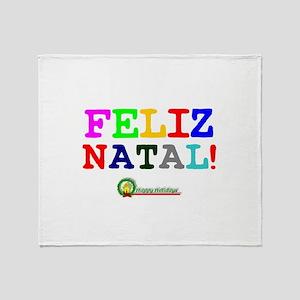 CHRISTMAS - FELIZ NATAL - HAPPY HOLI Throw Blanket