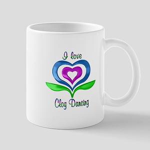 I Love Clog Dancing Hearts Mug