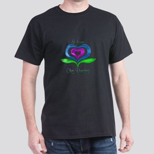 I Love Clog Dancing Hearts Dark T-Shirt