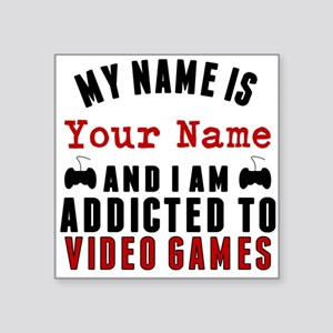 Addicted To Video Games Sticker