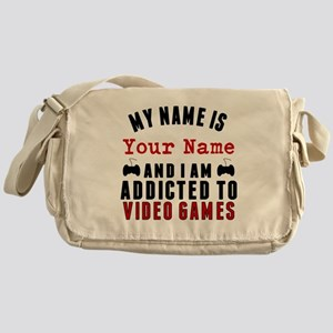 Addicted To Video Games Messenger Bag