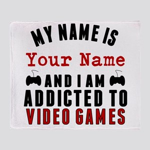 Addicted To Video Games Throw Blanket