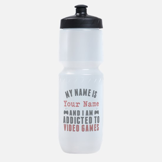 Addicted To Video Games Sports Bottle