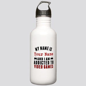 Addicted To Video Games Water Bottle