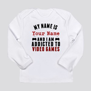 Addicted To Video Games Long Sleeve T-Shirt