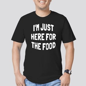 I'm just here for the Men's Fitted T-Shirt (dark)