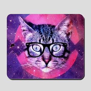 Hipster Cat Mousepad