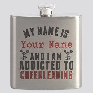 Addicted To Cheerleading Flask