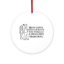 Healthy Crime Ornament (Round)