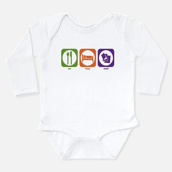 Cute Eat read Long Sleeve Infant Bodysuit