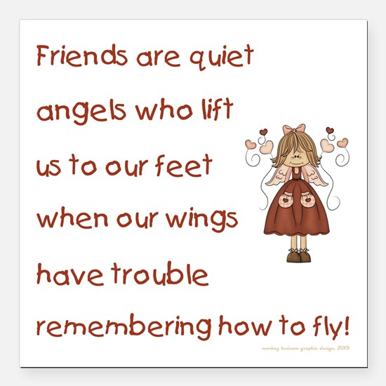 """FRIENDS ARE... Square Car Magnet 3"""" x 3"""""""