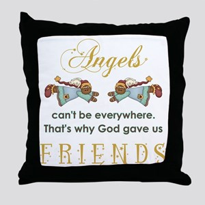 ANGELS CAN'T BE... Throw Pillow