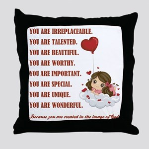 YOU ARE... Throw Pillow