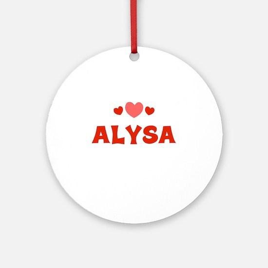 Alysa Ornament (Round)