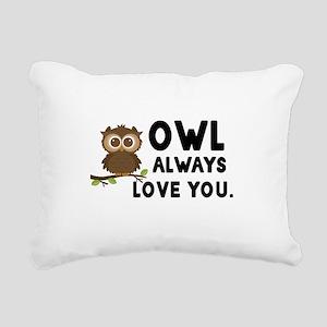 Owl Always Love You Rectangular Canvas Pillow