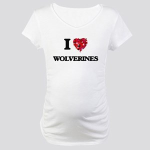 I love Wolverines Maternity T-Shirt