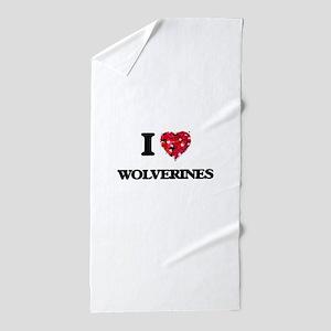 I love Wolverines Beach Towel