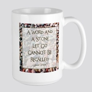 A WORD AND A STONE... Large Mug