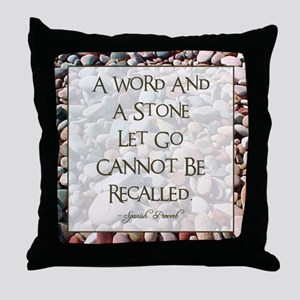 A WORD AND A STONE... Throw Pillow