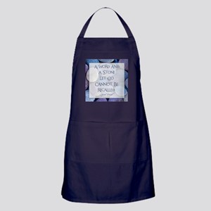 A WORD AND A STONE... Apron (dark)