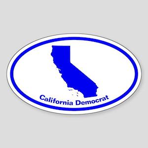 California BLUE STATE Oval Sticker