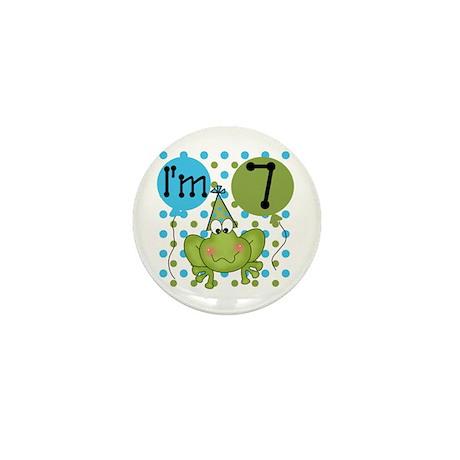 Frog 7th Birthday Mini Button