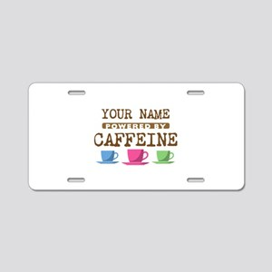 Powered by Caffeine Aluminum License Plate