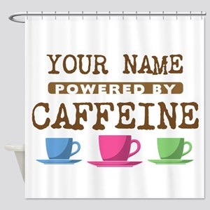 Powered by Caffeine Shower Curtain