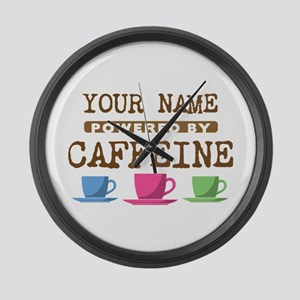 Powered by Caffeine Large Wall Clock